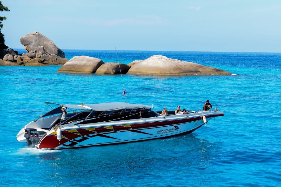 our speedboat Nawanoppa at the Similans