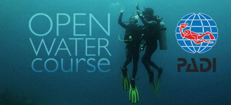 PADI open water course header