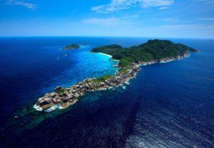 aerial view island no. 8